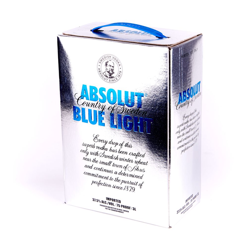 Absolut Blue Light, 3л